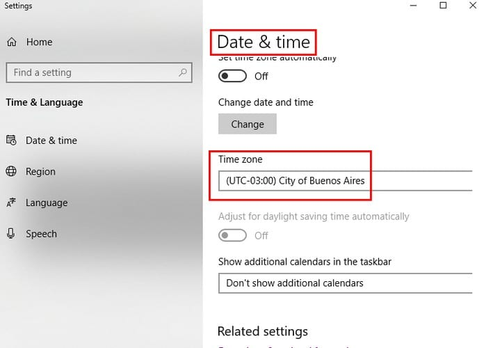 Windows 10: Time is Incorrect