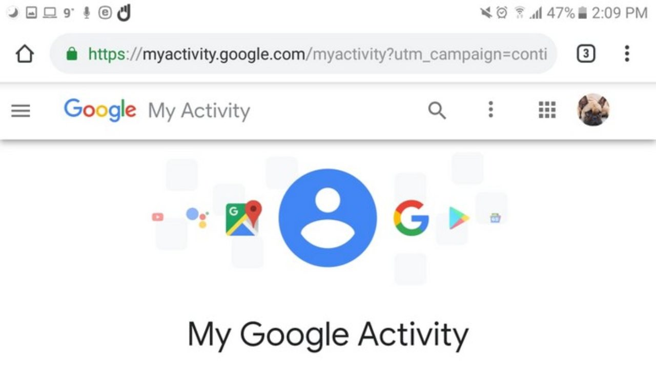 Android; Manage Google Account Activity