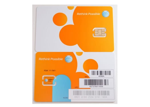 AT&T Nano SIM Card (4FF) for iPhone