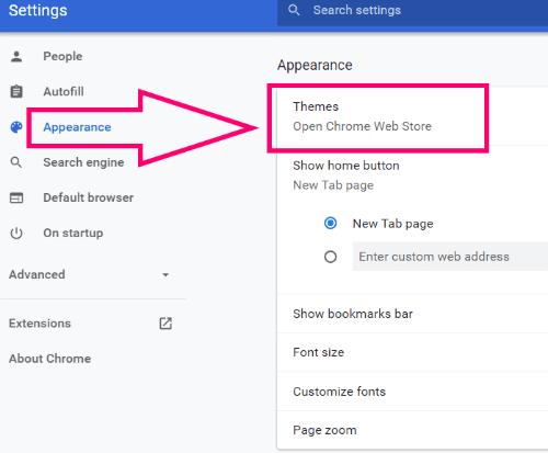 Google Chrome: Change the Background