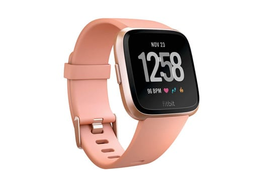 Fitbit Versa PeachRose, Smart Watch, One Size (Bands Include
