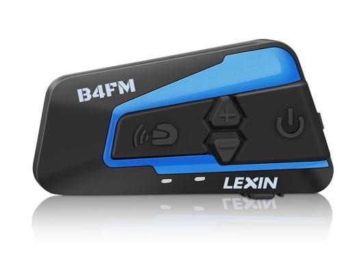 LEXIN LX-B4FM 4 Riders Motorcycle Intercom, Universal Helmet