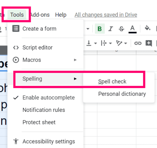 How to Spell Check in Google Sheets - Technipages