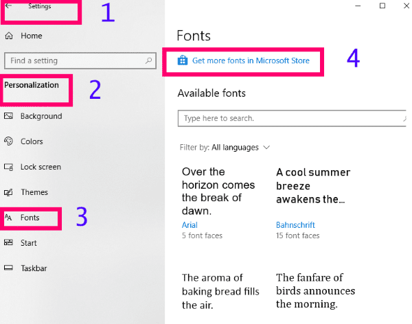 How to Install Fonts in Windows 10 - Technipages