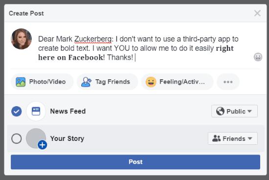 كيفية تغيير الخط فى حالة الفيسبوك