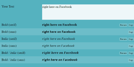 How To Make Bold Text In Facebook Status Technipages This element encloses text which should be rendered by the browser as boldface. make bold text in facebook status