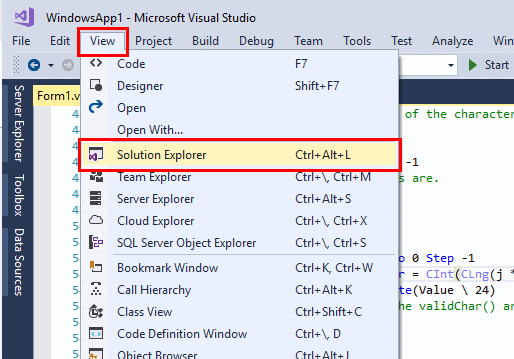 Visual-Studio-Solution-Explorer