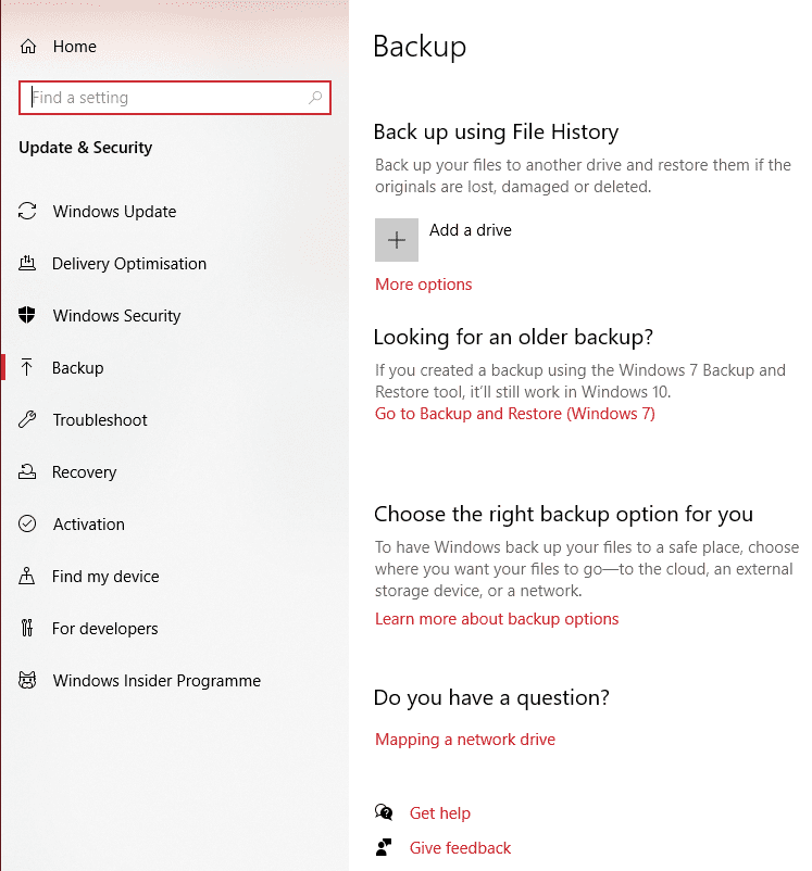 Windows 10: Backup and Restore Data