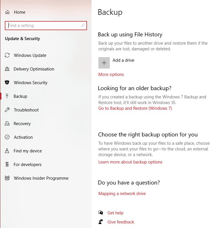 Windows 10: Backup and Restore Data