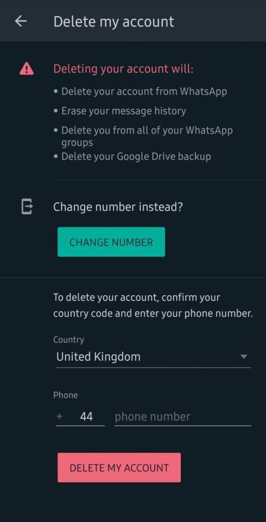 كيفية إلغاء تنشيط حساب الواتساب