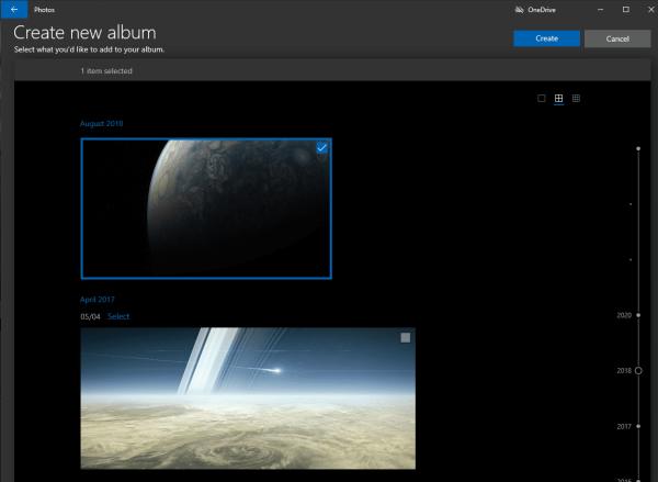 Windows 10: Add a New Album in Photos App