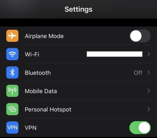 IPhone: How To Turn Off VPN