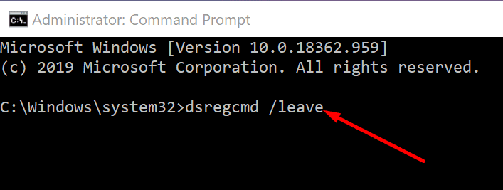 dsregcmd command PC