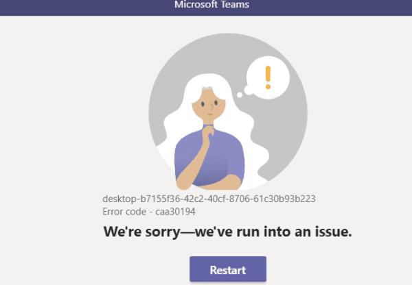 Troubleshooting Microsoft Teams Error Code caa30194