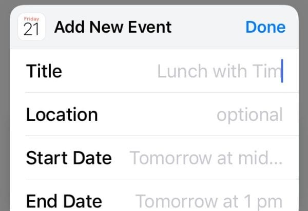 fix iOS Can't Delete Calendar Event