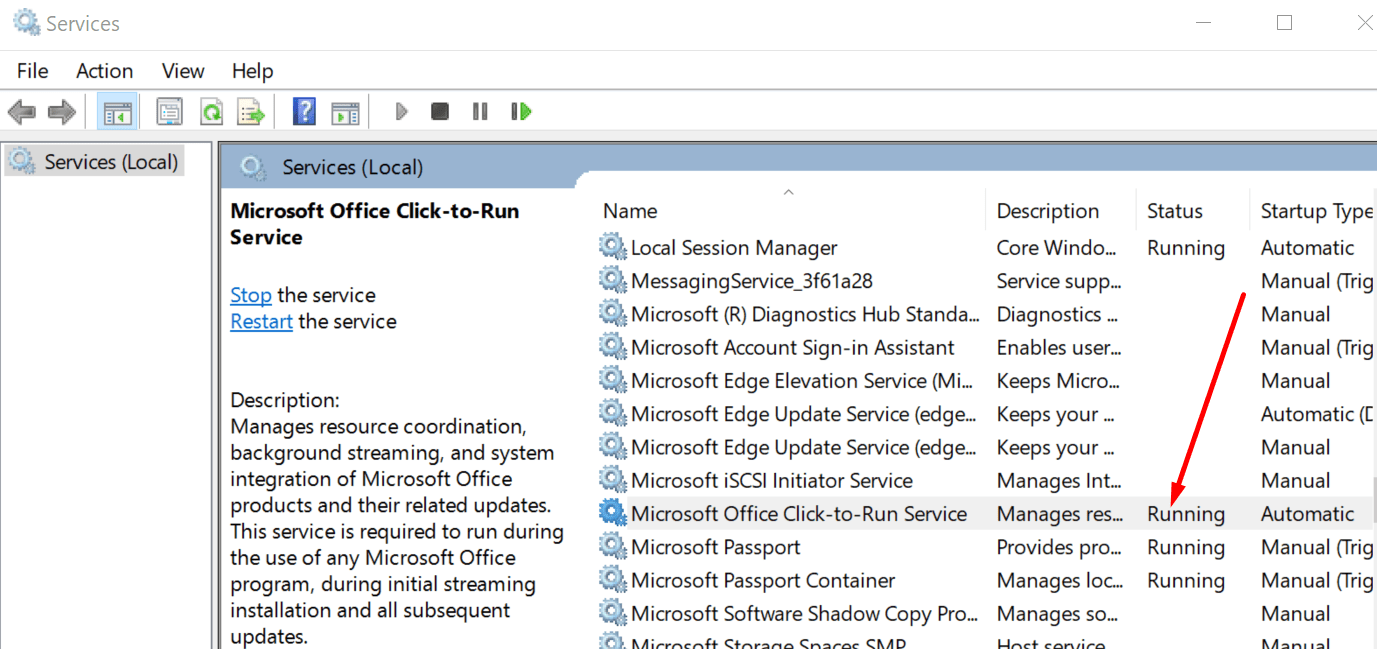 microsoft office click-to-run service