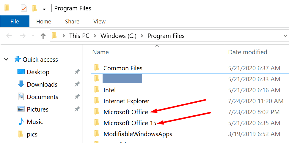 microsoft office program files