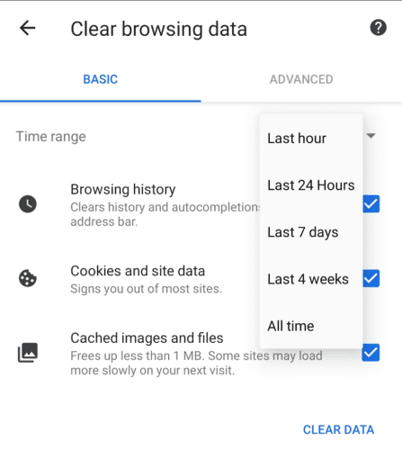 Ecosia for Android: How to Clear Your Browsing Data - Technipages