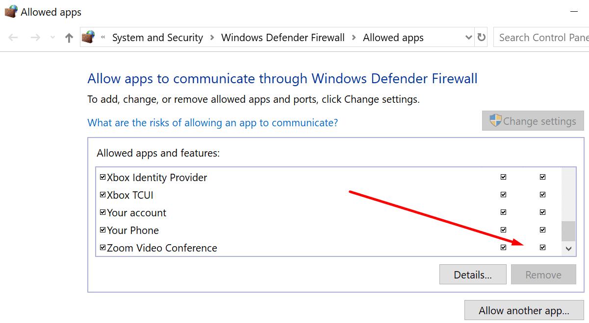 allow zoom windows firewall
