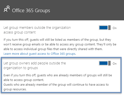 enable guest access office 365