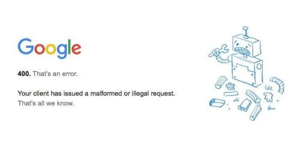 Fix Google Chrome Bad Request Error 400