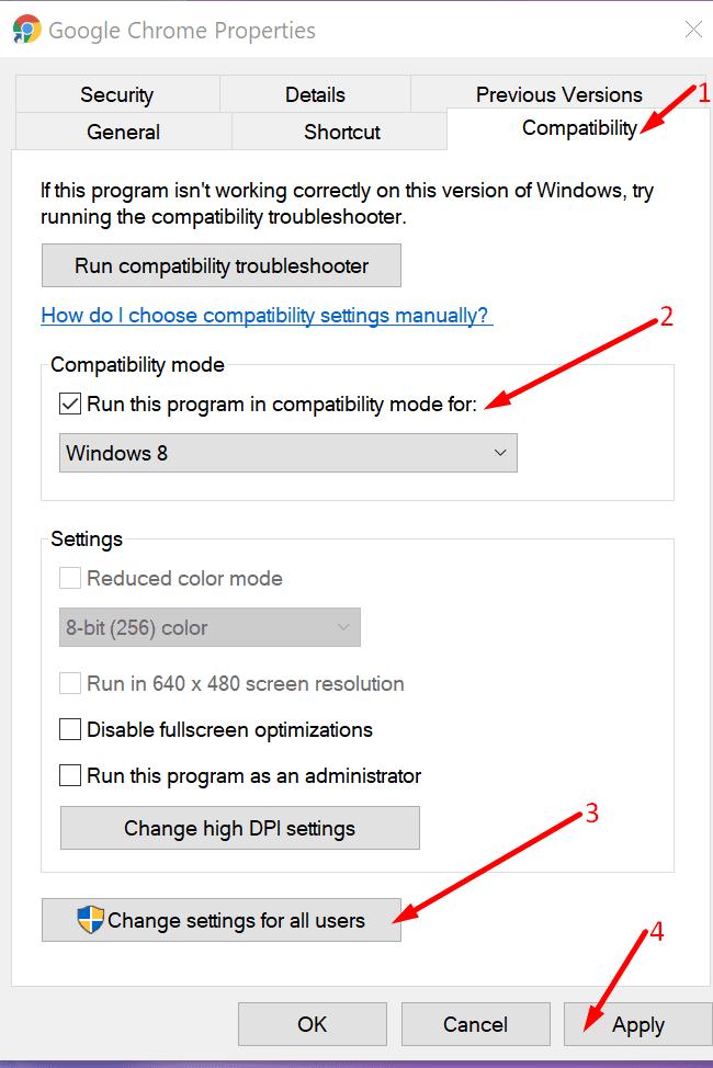 run chrome compatibility mode