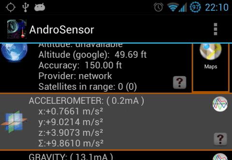 AndroSensor app