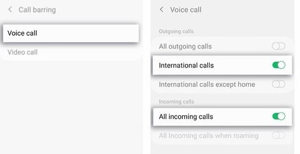 Call forwarding samsung