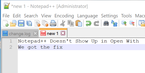 Fix Notepad++ Doesn't Show Up in Open With