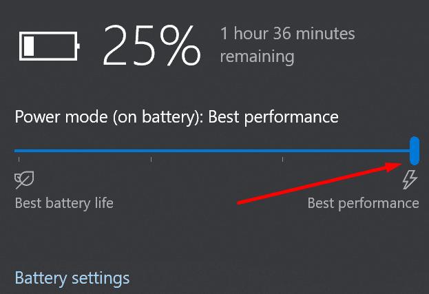 best performance battery settings