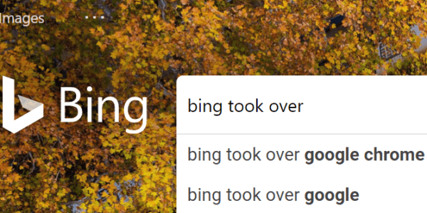 bing redirect took over browser