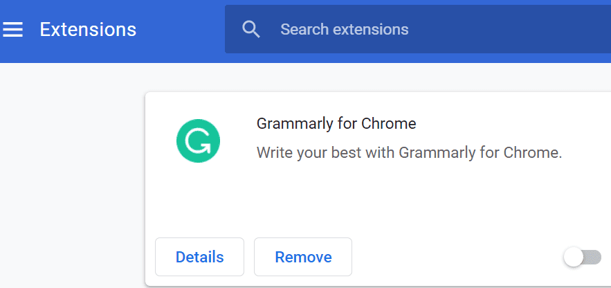 disable browser extensions chrome