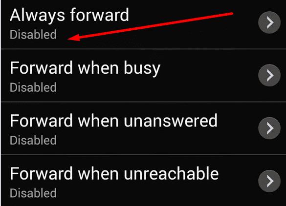 disable call forwarding samsung