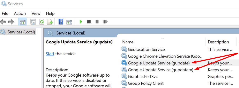 google update service