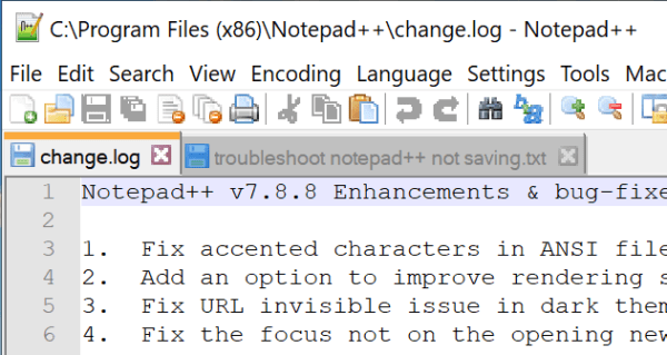 notepad ++ not saving fix