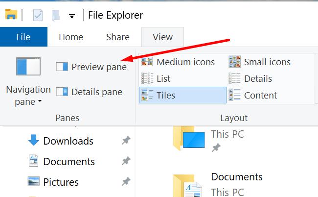 preview pane file explorer