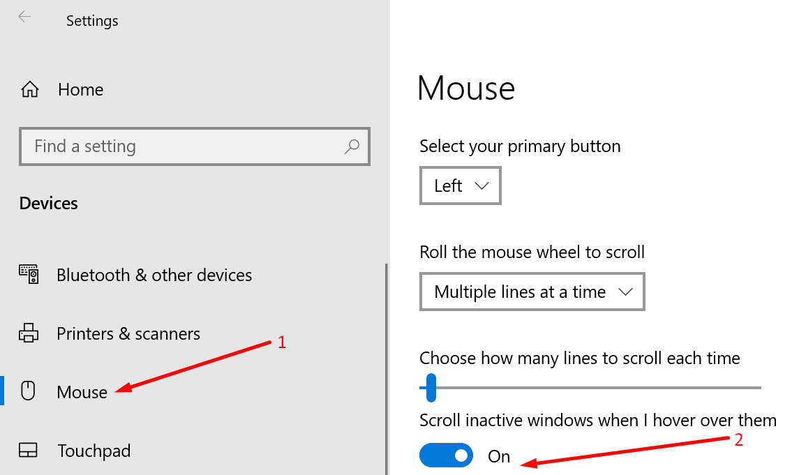 scroll inactive windows when I hover over them