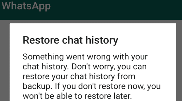 fix whatsapp something went wrong