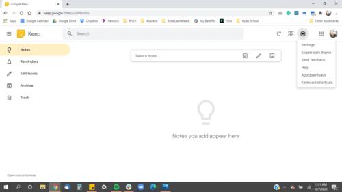 Google-keep-settings