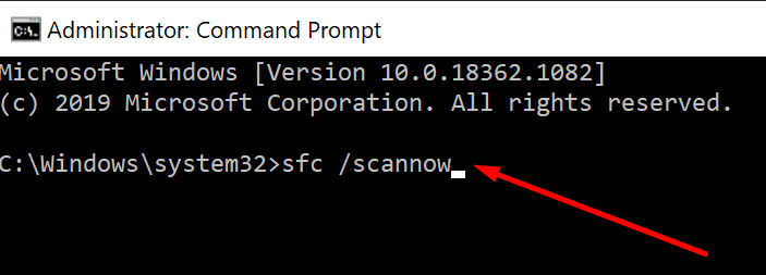run SFC command prompt