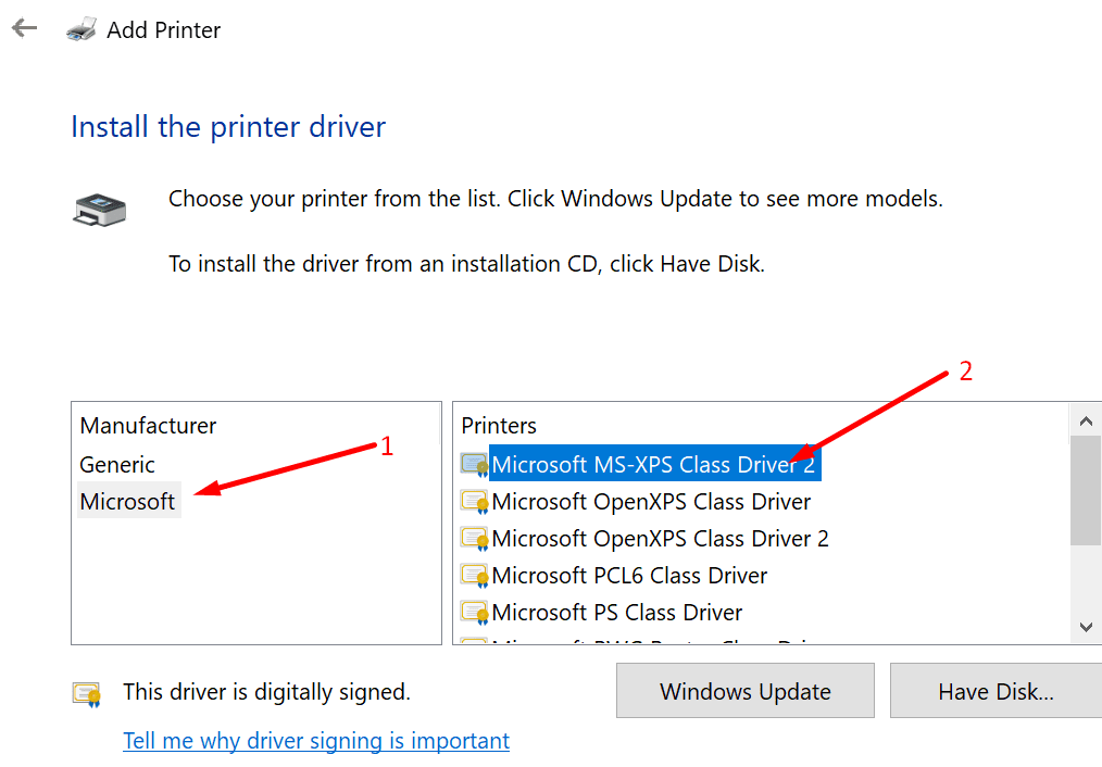 add microsoft XPS driver
