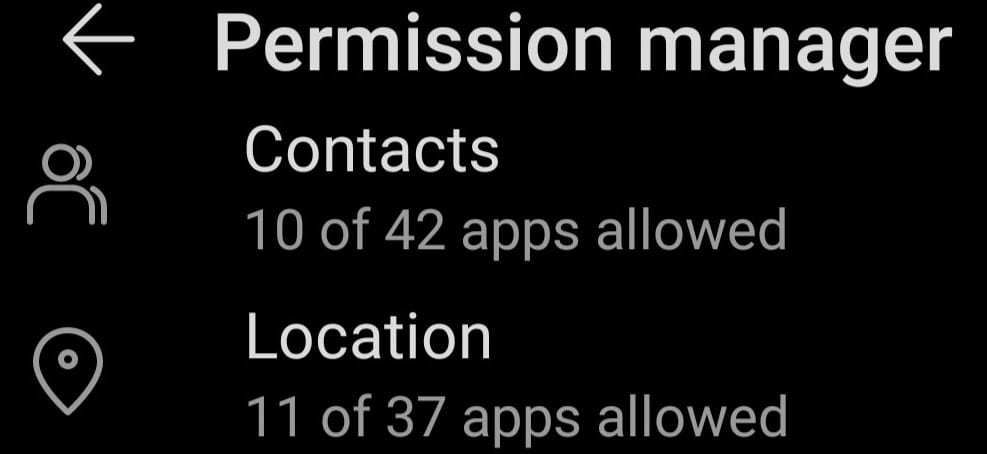 android permission manager location