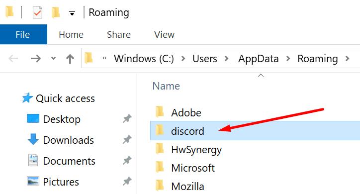 appdata discord delete