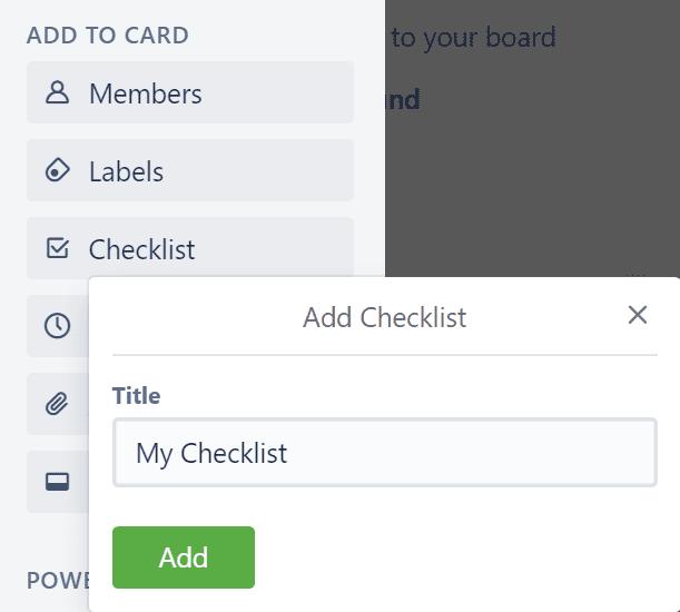 checklist title trello