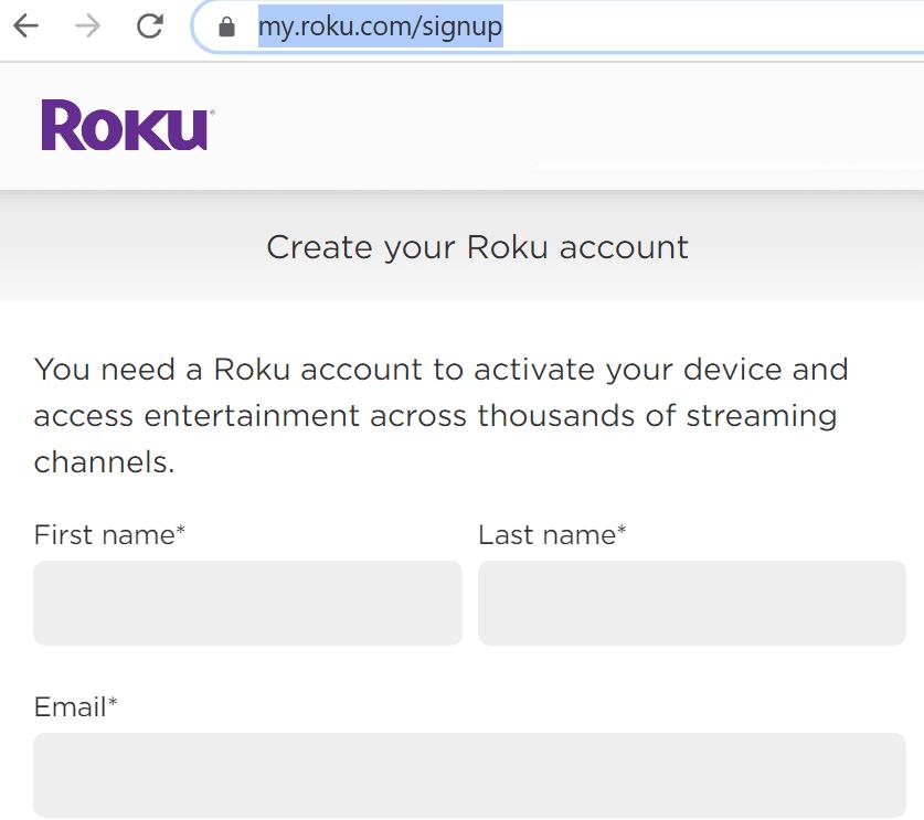 create roku account