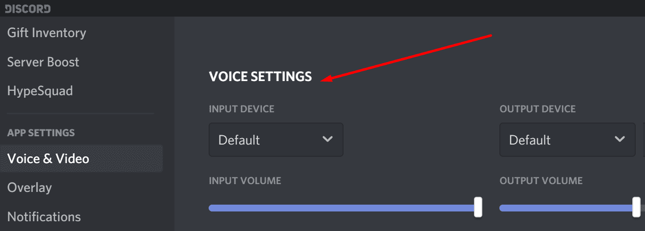 discord output input device settings