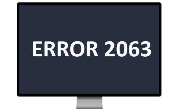 Troubleshooting Amazon Account Error 2063