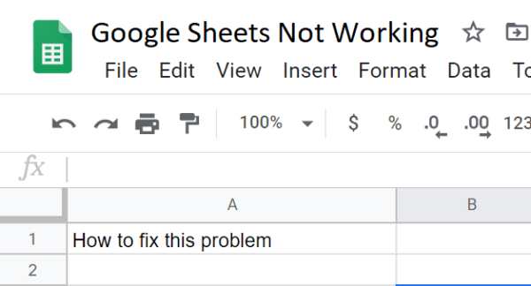 fix google sheets not working