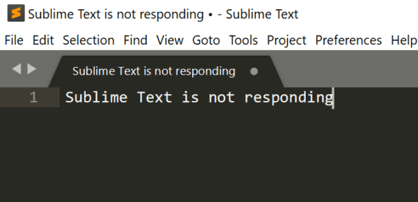 Troubleshooting Sublime Text Not Responding