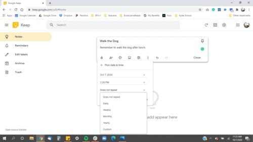 google-keep-customize-time